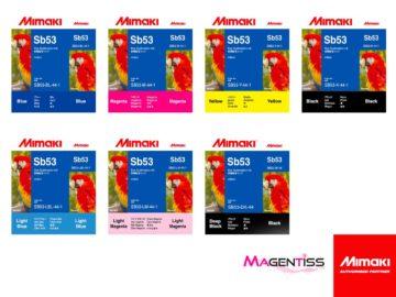 Magentiss : encre à sublimation SB53 en cartouche de marque MIMAKI, contenance 440 ml