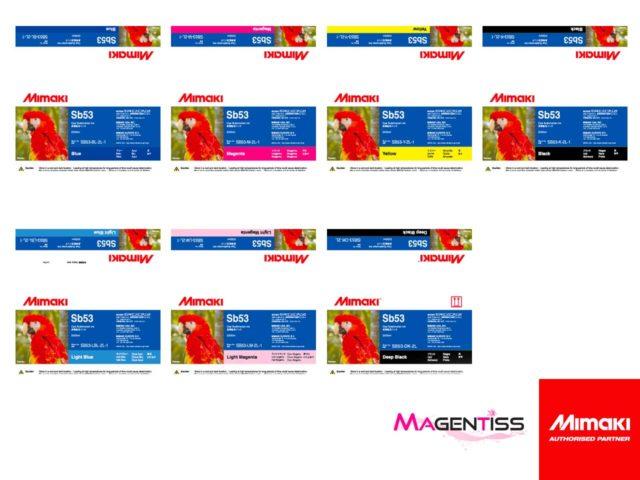 Magentiss : encre à sublimation SB53 en poche de marque MIMAKI, contenance 2000 ml