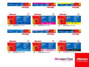 Magentiss : encre à sublimation SB54 en poche de marque MIMAKI, contenance 2000 ml