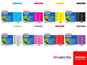 Magentiss : encre à dispersion directe DD400 en poche de marque MIMAKI, contenance 2000 ml