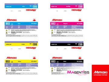 Magentiss : encre à solvant BS3 en poche de marque MIMAKI, contenance 2000 ml