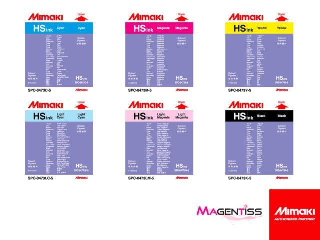 Magentiss : encre à solvant HS en cartouche, contenance 440 ml, de marque MIMAKI
