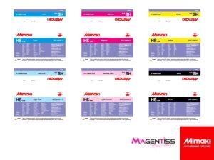Magentiss : encre à solvant HS en poche, contenance 2000 ml, de marque MIMAKI