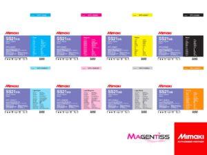 Magentiss : encre à solvant SS21 en poche de marque MIMAKI, contenance 2000 ml