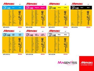 Magentiss : encre durcissable UV LED LF-140 en cartouche de marque MIMAKI, contenance 220 ml