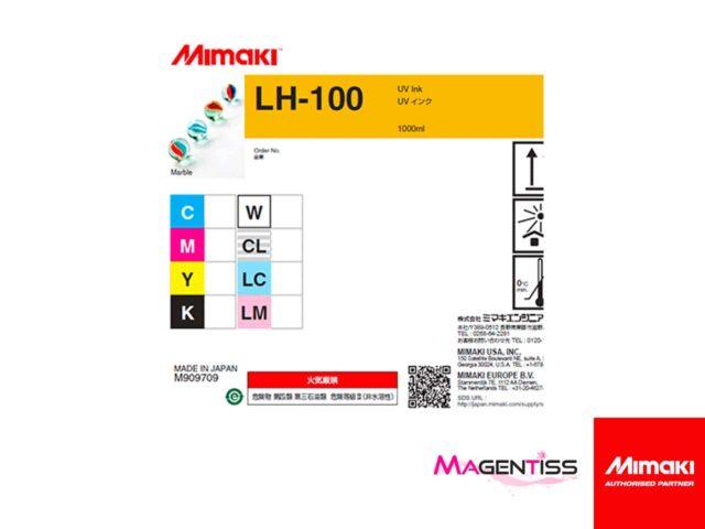 Magentiss : encre durcissable UV LED LH-100 en bouteille de marque MIMAKI, contenance 1000 ml