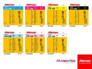 Magentiss : encre durcissable UV LED LH-100 en cartouche de marque MIMAKI, contenance 220 ml
