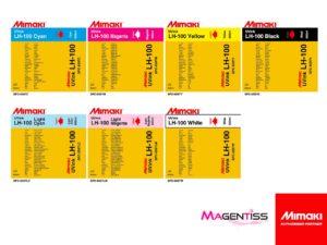 Magentiss : encre durcissable UV LED LH-100 en poche de marque MIMAKI, contenance 600 ml