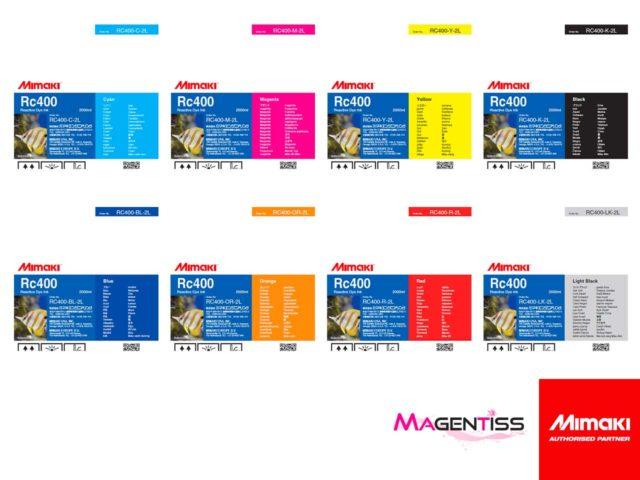 Magentiss : encre réactive RC400 en poche de marque MIMAKI, contenance 2000 ml