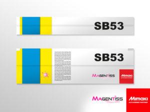 Cartouche d'encre SB53 pour imprimante numérique de marque MIMAKI - Magentiss