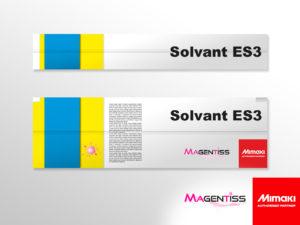 Cartouche d'encre solvant ES3 pour imprimante numérique de marque MIMAKI - Magentiss