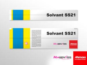 Cartouche d'encre solvant SS21 pour imprimante numérique de marque MIMAKI - Magentiss