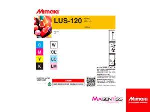 Magentiss : encre UV LUS-120 en bouteille de marque MIMAKI, contenance 1000 ml