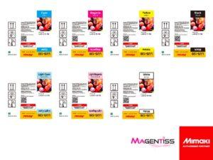 Magentiss : encre UV LUS-120 en bouteille de marque MIMAKI, contenance 250 ml
