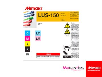 Magentiss : encre UV LUS-150 en bouteille de marque MIMAKI, contenance 1000 ml