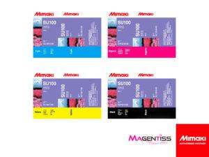 Magentiss : encre UV SU100 SUV en cartouche de marque MIMAKI, contenance 600 ml