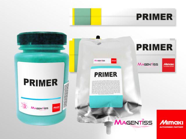 Primer d'accroche en cartouche, en bouteille ou en poche pour les imprimantes numériques de marque MIMAKI